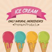 Vintage ice cream. Dessert design. Vector graphic Stock Illustration