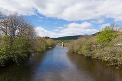 Fort Augustus Scotland UK River Oich popular village next to Loch Ness Stock Photos