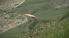 Hang glider and the bird Stock Footage