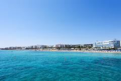 sea and fig tree bay beach in prota - stock photo