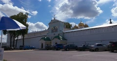 Dome Of The St Trinity Cathedral. The North entrance of the Ipatiev monastery. Stock Footage