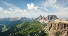 Time lapse of clouds in dolomiti mountains lanscape in sunny day Stock Footage