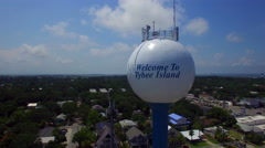 Tybee Water tower descent Stock Footage