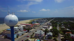 Tybee island water tower Stock Footage