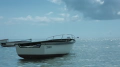 Static shot of fishing boat in Mauritius - stock footage