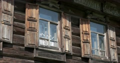 Wooden architecture. House. Kostroma Stock Footage