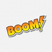 boom cartoon text sticker - stock illustration