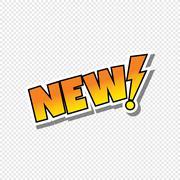 New cartoon text sticker Stock Illustration