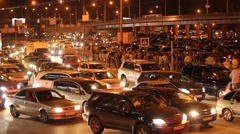 Road, a traffic nightmare. - stock footage