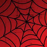 spider web art - stock illustration