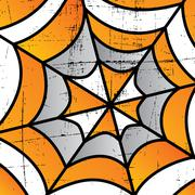 colorful spider web art - stock illustration