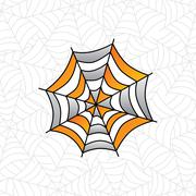 Colorful spider web art Stock Illustration