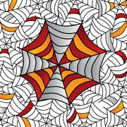 Colorful spider web art Stock Illustration