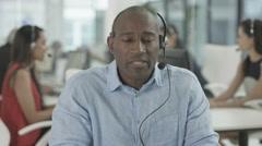 4K Friendly customer service adviser talking to a customer via video call Stock Footage