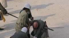 Medieval prisoners revenge Stock Footage