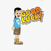 male cartoon character good luck theme - stock illustration