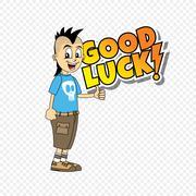 male cartoon character good luck theme - stock illustration