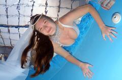 Underwater fashion in the pool Kuvituskuvat