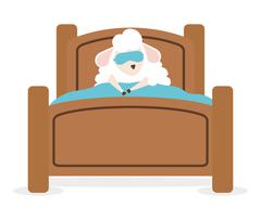 Sweet dreams design - stock illustration