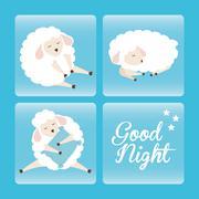 Sweet dreams design Stock Illustration