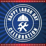 Labor day design - stock illustration