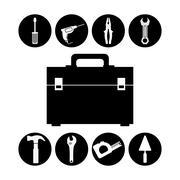 Tools design. Birdcages icon. Decoration object. vintage concept, vector graph - stock illustration