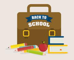 Back to school design - stock illustration