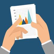Business statistics design - stock illustration