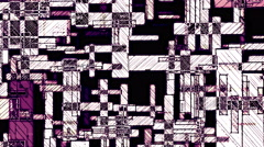 Grunge Purple White Dirty Grids Figures Geometrical Backgound - stock footage