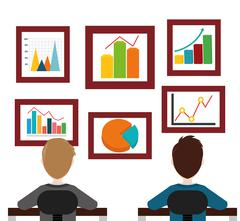 Business statistics design Stock Illustration