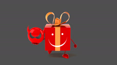 Fun gift - Digital animation Stock Footage