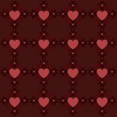 Dark red hearts pattern Stock Illustration