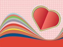 Decorative Paper Heart - stock illustration