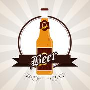Beer bottle icon. Drink and beverage design. Vector graphic Piirros