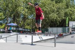 Thiago Borges during the DC Skate Challenge - stock photo