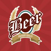 Beer label icon. Drink and beverage design. Vector graphic Piirros