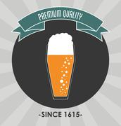 Beer glass icon. Drink and beverage design. Vector graphic Stock Illustration