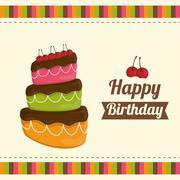 Dessert cake design Stock Illustration