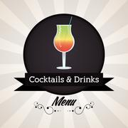 Cocktail glass icon. Drink and beverage design. Vector graphic Stock Illustration