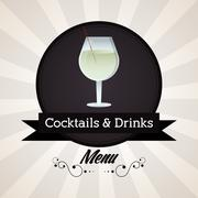 Cocktail glass icon. Drink and beverage design. Vector graphic Piirros
