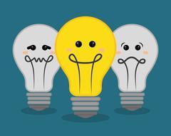 Think positive design - stock illustration