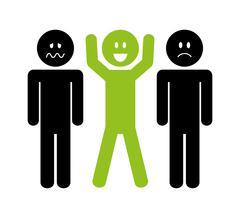 Think positive design Stock Illustration