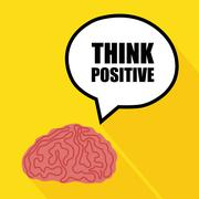 Think positive design Stock Illustration