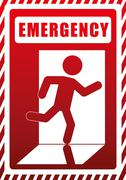 Emergency design illustration Stock Illustration