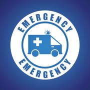 Emergency design illustration - stock illustration