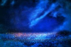Abstract night sky with clouds background Stock Photos