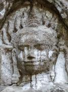 Ta Prohm temple at Angkor - stock photo