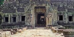Ta Prohm temple at Angkor Stock Photos
