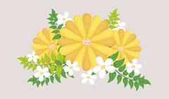 Flowers design illustration - stock illustration