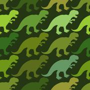 Tyrannosaurus seamless pattern. Angry prehistoric reptile pattern. Ancient an Stock Illustration